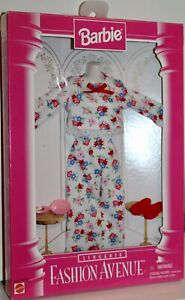 Barbie Fashion Avenue Collection 1996 Mattel #14292 Floral Pajama Lingerie New