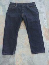Levis Mens 501XX Original Shrink-to-Fit Black Jeans Tag Size 42x30 #005010226