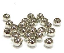 175 Metallperlen Zwischenteile SPACER Rund 5mm Silber Metall Schmuck BEST SF30