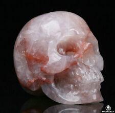 "2.0"" Three Color Jade Carved Crystal Skull, Realistic, Crystal Healing"