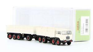 BREKINA 58412 - Fiat 690 millepiedi Camion Avec Remorque Blanc 1:87