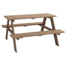 Picknicktisch für Kinder, massivholz, graubraun lasiert (IKEA), Tisch
