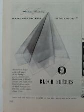 1951 Bloch Freres handkerchief from France vintage ad