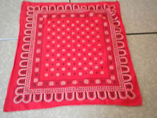 Vintage Western Bandana Rancher Red Rustic wash color Fast Elephant