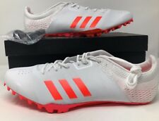 Adidas adiZero Prime Finesse Track Cleats White Red Metallic BB4097 Mens Sz 13