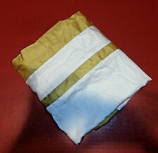 Fieldcrest Luxury King Pillow Sham 100% Cotton White Gold