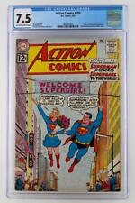 Action Comics #285 - CGC 7.5 VF- DC 1962 - Superman! Supergirl Existence Reveal!