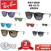 RAY-BAN ERIKA RAYBAN RB 4171 OCCHIALI DA SOLE UOMO DONNA SPECCHIATI ROTONDI MODA