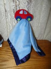 Baby Essentials Blue Red Car Security Blanket Lovey Velour Satin Boys Blankie