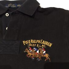POLO Ralph Lauren Small Black Polo Shirt 'No.67 R.L.P.C.' Embroidered
