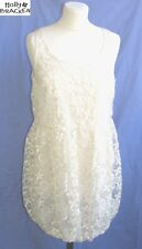 MOLLY BRACKEN - DRESS ORIGINAL TULLE & EMBROIDERY WHITE SIZE 40/42 - NEW