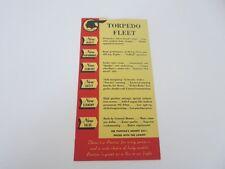 1941 Pontiac Torpedo Fleet New Features Brochure Card Advertising