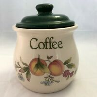 Cloverleaf Peaches and Cream Coffee Canister With Lid Made in England