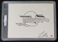 TIM ALLEN SIGNED ORIGINAL CHARITY SKETCH ART HOME IMPROVEMENT GALAXY QUEST PSA