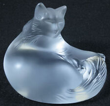 LALIQUE #1179500 HAPPY CAT BRAND NIB FRENCH CLEAR CRYSTAL BEAUTIFUL SAVE$ F/SHIP