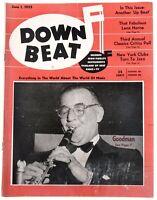 DownBeat June 1 1955 Benny Goodman Story  & Great Ads