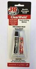 J-B Weld JB Weld ClearWeld Mini Quick Setting Epoxy 2 x 7g Tubes (80112)