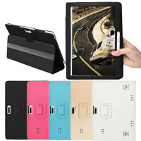 Universal 10 10.1 Inch Folio Leather Stand Cover Case For Android Tablet PC New