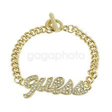 Femmes Bijoux Bracelet Strass Mode Cristal Bling Diamant Pendentif Doré Cadeau