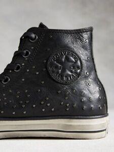 NIB $250 Converse by John Varvatos CTAS Mini Stud Hi Black/Bel 151295C US Mens 8