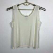 Chico's Travelers Tank Top Shell Blouse Size 3 Stretch White Sleeveless Womens