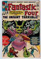 FANTASTIC FOUR #24 4.5 JACK KIRBY ART OFF-WHITE/WHITE PAGES SILVER AGE
