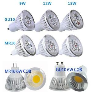 LED Bright Globe Spot Light GU10 MR16 6W 9W 12W 15W 220V 12V Downlight Bulbs AU