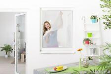 insectifuge Fenêtre moustiquaires gaze avec fermeture scratch 5er Set Blanc 130