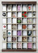 Vintage Pequeño De Madera Impresoras Bandeja Tipo Case Artwork y pequeño Coleccionables