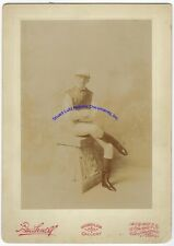 "San Francisco jockey photograph from late 1800s - 7"" x 10"" format - Bushnell Gal"