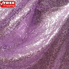 Lavender Sequin Fabric, Lavender Full Sequin on Mesh Fabric by the Yard -SQL