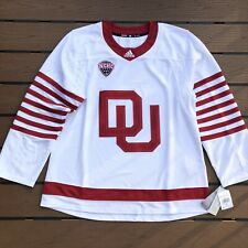 New with Tags Authentic Adidas University Of Denver DU Hockey Jersey Size 56 XXL