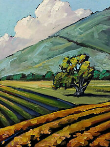 Wm HAWKINS Original Western Mountain Farm Art Impressionism Oil Painting Artist