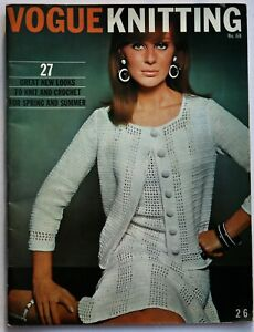 60s Mod Fashion knitwear crochet YSL Mondrian Vogue Knitting Book magazine 68