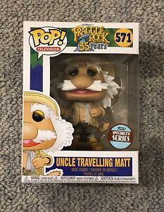 Funko Pop Vinyl -  FRAGGLE ROCK TV - 571 UNCLE TRAVELLING MATT