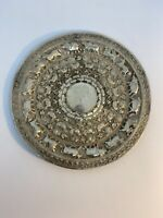 Antique islamic  Persian Art silver Very Decorated Animals Plate Extremely Rare