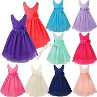 Flower Girl Birthday Pageant Wedding Party Formal Kids Princess Tutu Skirt Dress
