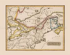 Map Antique Tallis 1850 Western Canada Old Large Replica Canvas Art Print