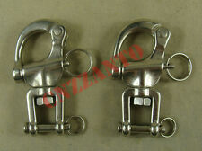 2pcs  2.7 inch 316# Stainless steel swivel snap shackle sailing boat Yacht