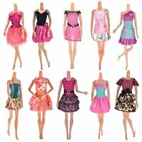 Barbie Doll Clothes 10-Pack Handmade Wedding Dress Party Gown Outfits Girls Gift