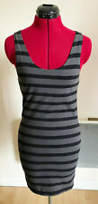 Vestido De Verano H&M a Rayas Bodycon Tamaño 14 Buen Estado