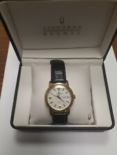 Bulova Accutron Gemini? Men's Swiss Made Automatic Classic Watch Exhibition Back