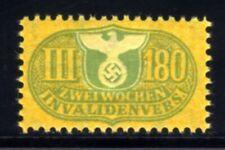 452-GERMAN EMPIRE-Third reich.WWII.NAZI Stamp Revenue 2 WEEKS INVALIDENVERS.MNG