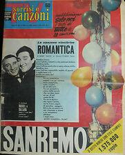 * TV SORRISI E CANZONI N° 6-7 / FEB/1960 RASCEL E DALLARA - SANREMO *