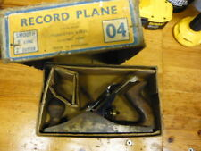 RECORD No. 4  Plane ' Carpentry woodworking Tool ' Made in England ' with box
