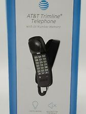 AT&T Trimline Telephone 13 Number Memory, Mute Button Black Lightly Used