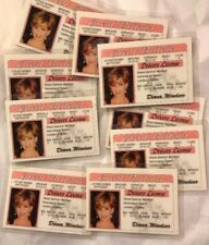 Lot of 10 Princess Diana Novelty Drivers Licenses