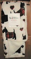 Plush Scottie Dog Christmas Throw Blanket - Polyester 50 x 60 Reversible