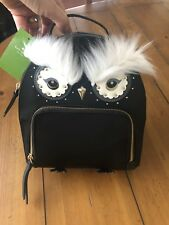 Kate Spade Owl Tomi Star Bright Nylon Black Backpack KS Boutique WKRU5690