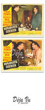 Diplomatic Courier Original Lobby Card Set of 2 - Tyrone Power - 1952 - VF